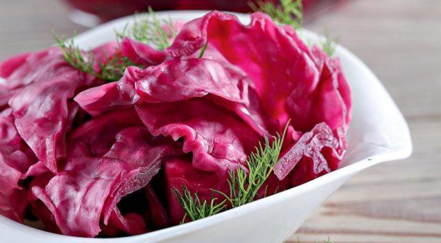 салат из красной капусты
