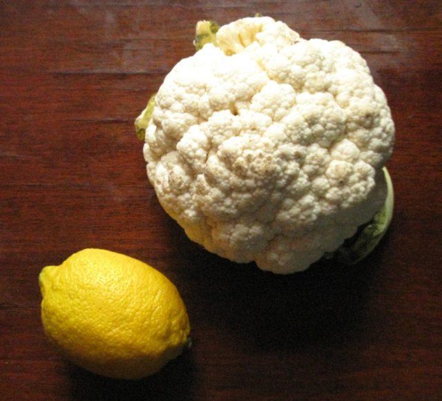 цветная капуста лимон