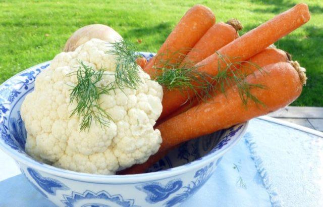цветная капуста морковь