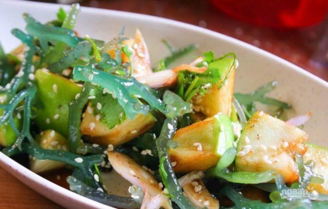 морская капуста с картофелем