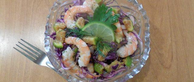 салат в вазе